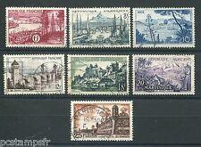 FRANCE 1955, SERIE 7 timbres 1036/1042, TOURISTIQUE, oblitérés, VF used stamps