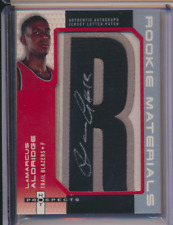 LAMARCUS ALDRIDGE 2006 07 FLEER HOT PROSPECTS ROOKIE LETTER PATCH AUTO