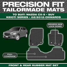 Mazda CX-5 SUV 02/2012-On Custom Moulded Rubber Black Car Floor Mats