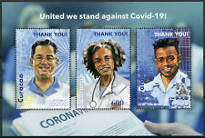 Curacao Medical Stamps 2020 MNH Corona United We Stand Against 3v M/S