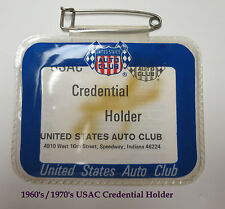 NOS Vintage USAC / United States Auto Club Credential Holder 1960's / 1970's