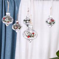 Weihnachten Klar Kugel Rot Beere Frucht Gefüllt Weihnachtsbaum Hängen Ornament