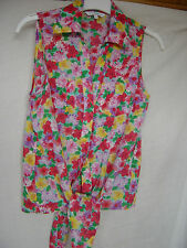 New Look floral sleeveless shirt - size 8
