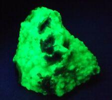 Brightly fluorescent (green SW-UV) hyalite + common opal, Del Norte Colorado! A7