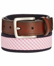 CLUB ROOM Navy Pink Plaid Adjustable Casual Belt NEW 11CN03X006 Size 40 MSRP $40