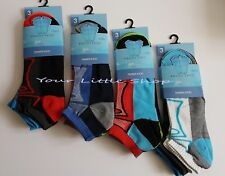 6 Pairs Men's Trainer Liner Ankle Socks Funky Designs Adults Sports 6-11 10726