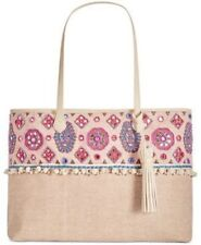 Angel by L. Martino $148 NWT Lily Extra Large Beaded Tote Multi Color Bohemian