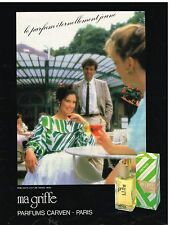 """Publicité Advertising 1984 Parfum """"Ma griffe"""" de Carven"""