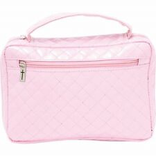 Faux Patent Leather PINK BIBLE COVER Protective Ladies Holy Book Tote Carry Case
