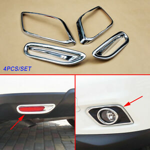 Accessories For Nissan X-Trail Rogue 2014-2016 Front Rear Fog Light Lamp Cover