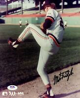 Mark Fidrych autographed signed 8x10 photo MLB Detroit Tigers PSA COA
