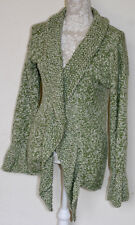 100% CASHMERE L/14/16 BRUNO MANETTI THICK CHUNKY KNIT FLECKED SOFT CARDIGAN