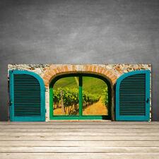 Crédence de cuisine en verre Panneau 125x50 Paysage Fenêtre