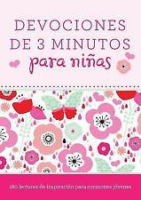Devocionales de 3 Minutos Para Ninas: 180 Lecturas Inspiradoras Para Corazones J