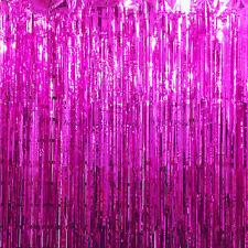 2M / 2.5M Long Metallic Foil Fringe Tinsel Curtain Wedding Backdrop Xmas Party