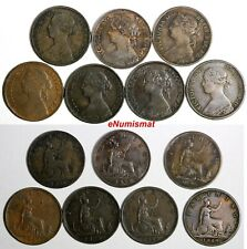 Great Britain  Victoria Copper LOT OF 7 COINS 1860-1885 Farthing