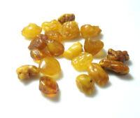 100% Natural Baltic Yellow Amber Egg Yolk Rough Loose Beads Gemstone 53.65cts
