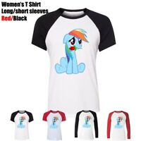 My Little Pony Rainbow Dash Mouthpiece Roses Women's T-Shirt Graphic Tee Tops