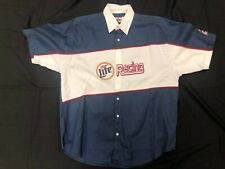Deadstock VIntage XL New NWT NASCAR Miller Lite Rusty Wallace Pit Shirt Polo VTG