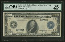FR1133-B $1,000 1918 FRN NEW YORK PMG 25 VF+ VERY RARE ONLY 33 RECORDED WLN506