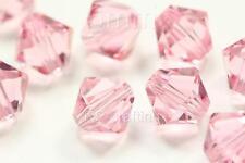 48 x Austrian bicone crystal bead 6mm for Swarovski 5301/5328-Rosaline #3