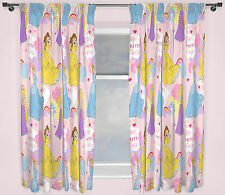 "Disney Princess Enchanting Curtains 66""x72"" 167x183cm Cinderella Belle Rapunzel"