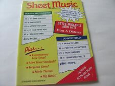5 SHEET MUSIC MAGAZINES - 1994,1995 & 1997 EDITIONS - LOTS OF GREAT SHEET MUSIC0
