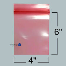 100 Pink 4x6 Antistatic Zip Lock Bags 4 Mil For Ssd Hard Drives And Ryzen 7 Cpu