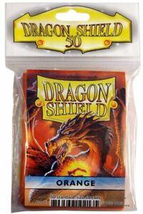 Card Sleeves Dragon Shield 50ct Box Deck Protector Classic Orange Standard Size