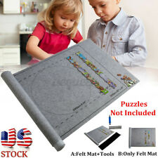 US 24*46 inch Jigsaw Puzzle Storage Mat Roll-Up Felt For Up To 1500pcs Toys
