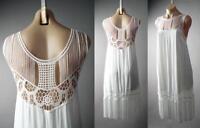 White Fringe 20s Flapper Goddess Great Gatsby Theme Party 148 mv Dress S M L