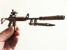 CF Assault Rifle M4A1 Miniature Gun metal model Keychain ring Ornament Gifts USA