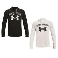 Herren Under Armour Rivale Terry Big Logo Hoodie Sweatshirt UA 1361559