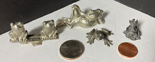 Frog Miniatures Set Lot Of 4 Including 2 Pewter One Spoontique Euc