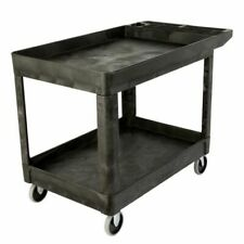 Commercial Heavy Duty 2 Shelf Utility Cart 33 14h X 25 34w X 45 14d Blac