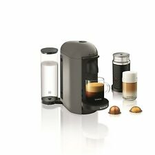 Nespresso Vertuoplus Espresso Coffee Maker with Milk Frother by Breville, GREY