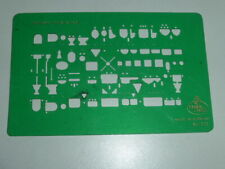 Zeichenschablone FABER-CASTELL N° 923 Sanitäre Installation  1 : 200