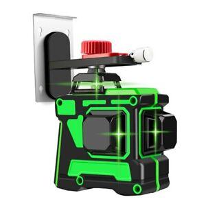 3D 12 lines laser level green beam rotating self-leveling 360 degrees vertical