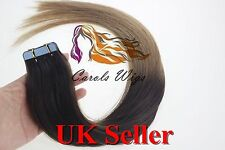 "8A Best Quality 22"" Tape-In 100% Russian Remy Human Hair Extensions UK Seller"
