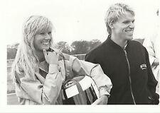 Stefan Johansson & Partner f1 1985 GP originale periodo fotografia DI AGENZIA stampa