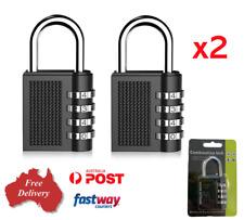 2 x 4 Digit Combination Lock Security Padlock Weather Proof Heavy Duty, Gym XL