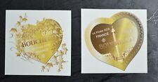 Lot des deux timbres de France neufs** coeurs de BOUCHERON de 2019 autoadhésifs