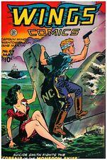 Wings Comics #69 Golden Age Fiction House 7.5