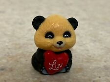 Hallmark 1984 Valentine Merry Miniature - Panda with Heart and Gold Sticker