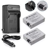 2 X LP-E8 Battery Pack+Charger Combo For Canon Rebel T5i T4i T3i T2i DSLR Camera