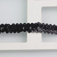 Lot 10 Yards Metallic Sequins Ribbon Elastic Band Stretch Trimming Decorative