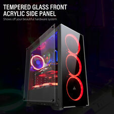GOLDEN FIELD N17 ATX/Micro ATX/ITX Mid Tower Computer PC Gaming Case Side Window