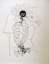 Reich Karoly Lithographie signée numérotée Hommage à Ady Paris Budapest 1977