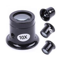 Profi 10X Lupe Lupenbrille  Vergrößerungsbrille Juwelier Uhrmacher Reparatur &