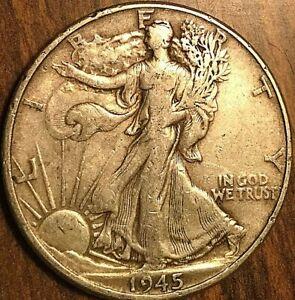 1945 USA SILVER 50 CENTS HALF DOLLAR COIN